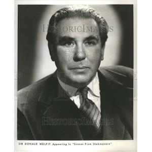 1960 Press Photo Sir Donald Wolfit English Actor Manage