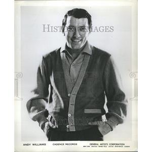 1960 Press Photo Andy WilliamsBranson MissourBette Davi