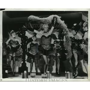 1969 Press Photo Appleton's Lynn Kellogg Plays a Dance hall Hostess in Charro!