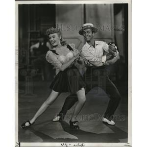 1950 Press Photo June Haver and Gene Nelson in The Daughter of Rosie O'Grady.