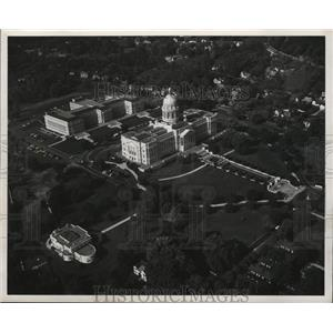 1954 Press Photo Frankfort, Kentucky. Capitol with magnificent dome.