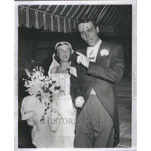 1955 Press Photo Samuel Sherer Wife Mary