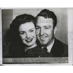 1946 Press Photo Steve Brodie and Lois Andrews married in Tijuana, Mexico.