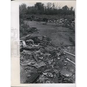 1969 Press Photo Trash Dumping on Seville Road, Ohio - nef25292