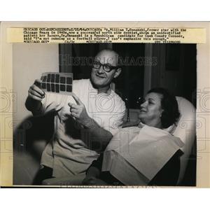 1964 Press Photo Former Chicago Bears star William Osmanski now a dentist