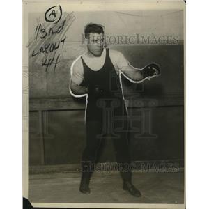 1927 Press Photo Portrait Of Tom Heeny In His Fighting Position - net28881