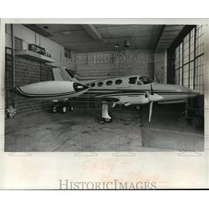 1976 Press Photo Blue Cross of Wisconsin Cessna 414 - mja38598