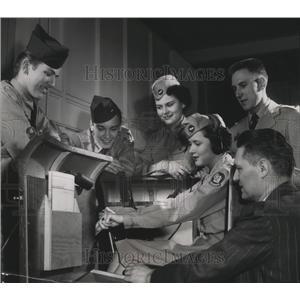 1953 Press Photo Staff officers of Milwaukee flight 3, Civil Air Patrol