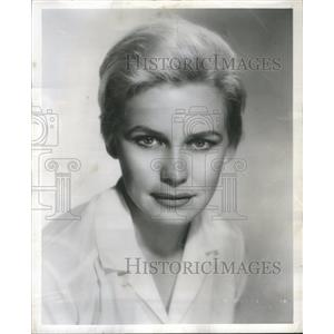 1959 Press Photo Diana Van Der Vlis Actress