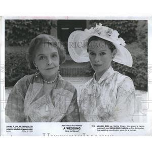 1978 Press Photo Lillian Gish and Geraldine Chaplin