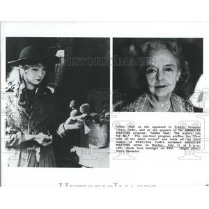 1988 Press Photo Lillian Gish Actress United States