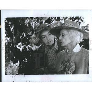 1987 Press Photo Lillian Diana Gish Bette Davis August
