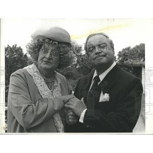 1985 Press Photo Art Carney and Jackie Gleason
