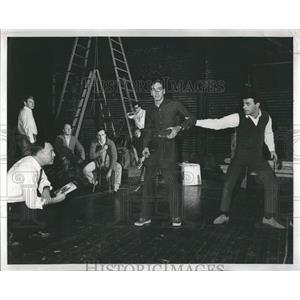 1966 Press Photo Entertainers Rehearse Scene - RRR30865