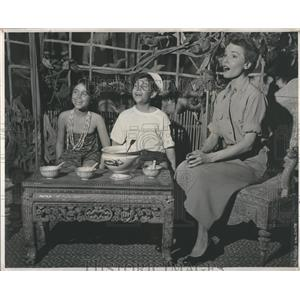 1951 Press Photo South Pacific Janet Blair John Maria