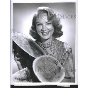 1951 Press Photo Audrey Mary Totter Actress Meet Millte