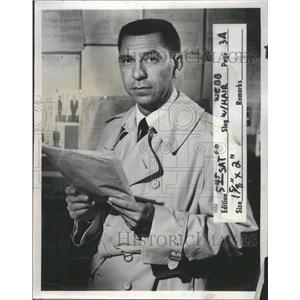 1958 Press Photo Jack Webb NBC television