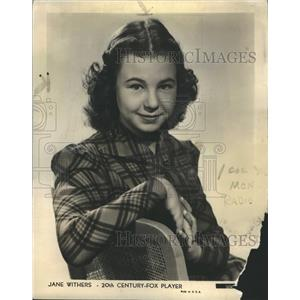 1940 Press Photo Jane Withers Publicity Shot - RRR54683