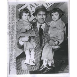 1955 Press Photo Tyrone PowerRomina Francesca Taryn Sta - RRR68553