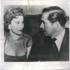 1954 Press Photo Tyrone Power Linda Christian divorce