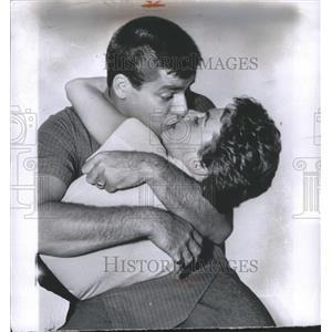 1956 Press Photo Jerry Lewis American comedianVenice Fi