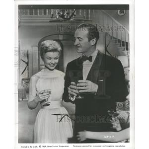1959 Press Photo David Niven Mitzi Gaynor Anniversary