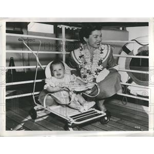 1952 Press Photo Esther Jane Williams Son  American Swi