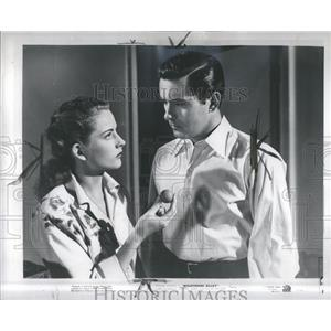 1947 Press Photo Tyrone Power Coleen Gray - RRR84325