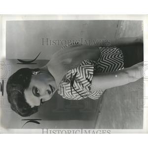 1958 Press Photo Nicole Maurey Actress French Bios - RRR94099