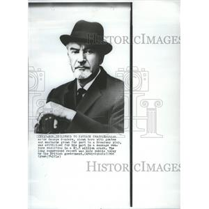 1966 Press Photo George Henry Sanders English Actor TV - RRR98341