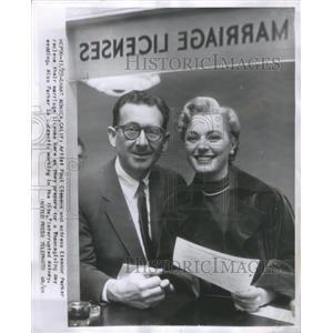1954 Press Photo Artist Paul Clemens Actress Eleanor - RRR98369