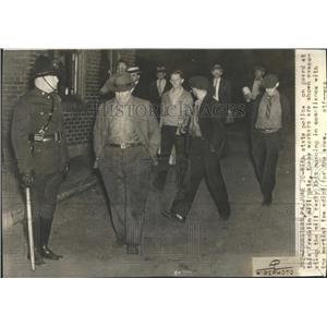 1937 Press Photo State Police Guard Franklin Mill