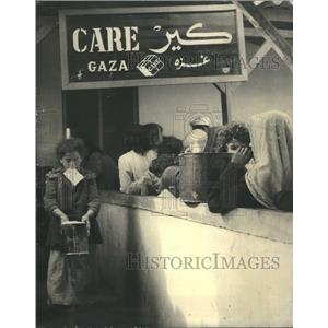1957 Press Photo Arab Gaza American Refugee US - RRR15695