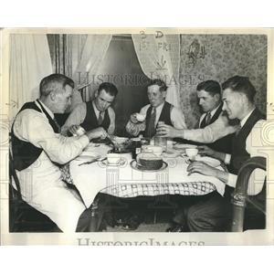 1937 Press Photo Boy at Home Eating Heartily