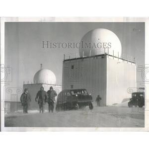 1956 Press Photo Exterior of Radar Dome