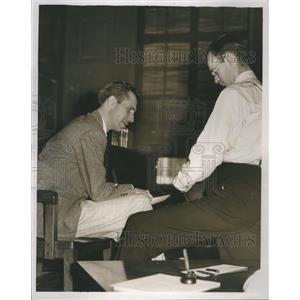 1937 Press Photo Robert M Gertman Man Beat Riot