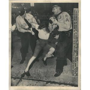 1948 Press Photo Struggling Police Marylyn Haselback