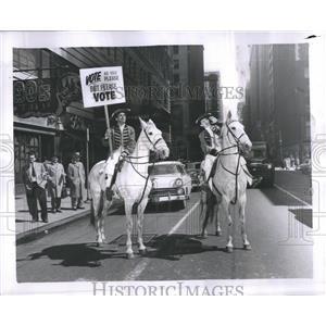 Vote Protest Horse Men Street