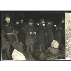 1937 Press Photo National Guard Call Shoe Factory Riot