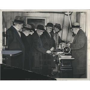 1937 Press Photo Henry Ford, Wright shop. - RRR87621