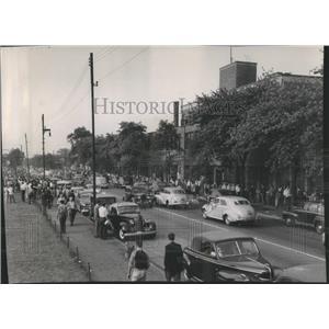 1949 Press Photo Strike Mass Refusal Employees Work - RRR89907