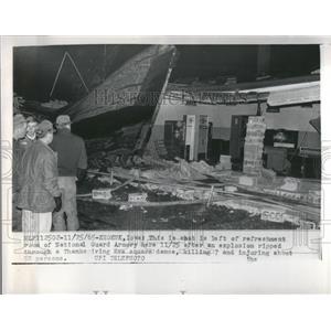 1965 Press Photo National Guard Armory Refreshment Room