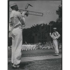 1961 Press Photo US Naval Training Great Lakes Anniv
