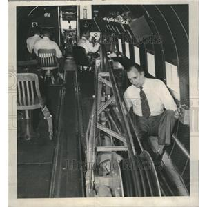 1948 Press Photo Magnetometer Crew Plane Oil Search - RRR13539