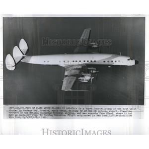 1960 Press Photo Super Constellation Plane Avianca