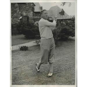 1933 Press Photo Willie Kline during first round of Metro Open Golf Championship