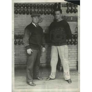 1930 Press Photo Navy Academy boxing coaches Spike Webb, George Moffett