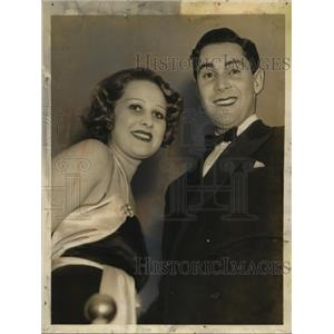 1935 Press Photo Hazel Forbes Actress & Heiress with Philip Reed in Hollywood