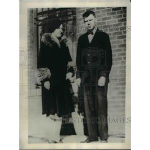 1929 Press Photo Richard Kucharo & wife he fasted for 40 days in Omaha Nebraska