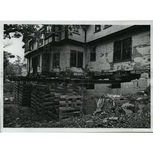 1978 Press Photo A 500,00 ton Lakeside House Awaiting for Firmer Grounds